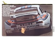 Porsche Vallelunga Vintage Racing Poster Carry-all Pouch