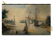 Port Scene With Sailing Ships Carry-all Pouch