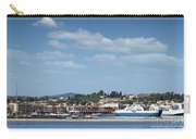 port with ferry boats Corfu Greece Carry-all Pouch