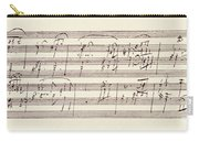Portion Of The Manuscript Of Beethoven's Sonata In A, Opus 101 Carry-all Pouch