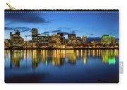 Portland City Skyline Blue Hour Panorama Carry-all Pouch