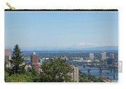 Portland Cityscape And Bridges On A Clear Blue Day Carry-all Pouch
