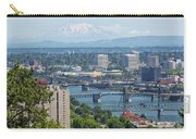 Portland Cityscape With Mount Saint Helens View Carry-all Pouch