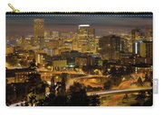 Portland Downtown Cityscape And Freeway At Night Carry-all Pouch