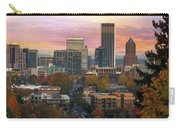 Portland Downtown Cityscape During Sunrise In Fall Carry-all Pouch