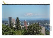 Portland Downtown Cityscape With Mount Saint Helens View Carry-all Pouch