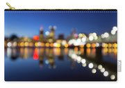 Portland Downtown Skyline Blue Hour Blurred Defocused Bokeh Carry-all Pouch