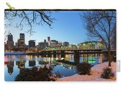Portland Downtown Winter Night Scene Carry-all Pouch