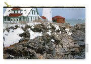 Portland Head Light In Winter Carry-all Pouch