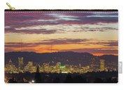 Portland Oregon City Skyline Sunset Panorama Carry-all Pouch