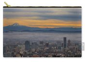 Portland Oregon Cityscape And Mount Hood At Sunrise Carry-all Pouch
