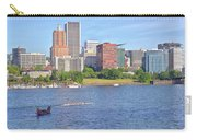 Portland Oregon Skyline And Rowing Boats. Carry-all Pouch