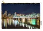 Portland Skyline By Hawthorne Bridge At Night Carry-all Pouch
