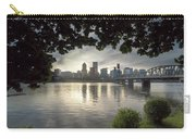 Portland Skyline Under The Trees At Sunset Carry-all Pouch