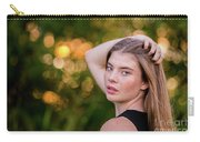 Portrait At Golden Hour Carry-all Pouch