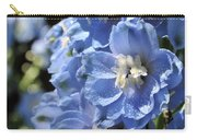 Portrait Blue Delphinium 114 Carry-all Pouch