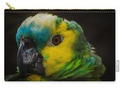 Portrait Of A Blue-fronted Parrot Carry-all Pouch