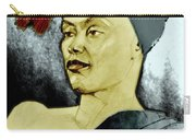 Tinted Portrait Drawing Of A Bronx Beauty Carry-all Pouch by Greta Corens