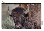 Portrait Of A Buffalo Carry-all Pouch