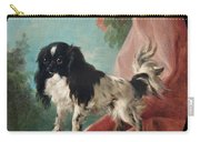 Portrait Of A Cavalier King Charles Spaniel Carry-all Pouch