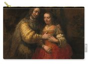 Portrait Of A Couple As Figures From The Old Testament Carry-all Pouch