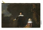 Portrait Of A Couple In A Landscape Carry-all Pouch
