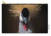 Portrait Of A Crowned Crane 2 Carry-all Pouch