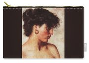 Portrait Of A Dark-haired Beauty Konstantin Makovsky Carry-all Pouch