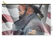 Portrait Of A Fire Fighter Carry-all Pouch