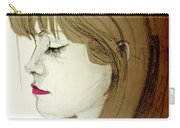 Portrait Of A Lovely Young Woman Carry-all Pouch