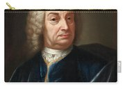 Portrait Of A Gentleman Half Length Wearing A Wig And A Blue Velvet Cape Carry-all Pouch