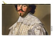 Portrait Of A Gentleman In White Carry-all Pouch