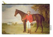 Portrait Of A Gentleman With His Horse Carry-all Pouch