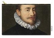 Portrait Of A Gentleman Workshop Of Hans Von Aachen - Circa 1600 Carry-all Pouch