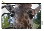 Portrait Of A Giraffe Carry-all Pouch