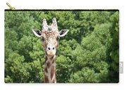 Portrait Of A Giraffe Carry-all Pouch
