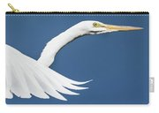 Portrait Of A Great Egret Carry-all Pouch