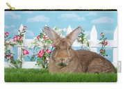 Portrait Of A Gregarious Brown Bunny Carry-all Pouch