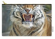 Portrait Of A Growling Tiger  Carry-all Pouch