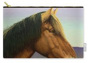 Portrait Of A Horse Carry-all Pouch by James W Johnson