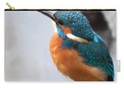 Portrait Of A Kingfisher Carry-all Pouch