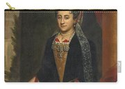 Portrait Of A Lady Half Length In A Mantua Gown And Lace Frelange Headdress Carry-all Pouch