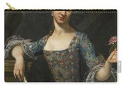 Portrait Of A Lady In An Elaborately Embroidered Blue Dress Carry-all Pouch