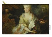 Portrait Of A Lady Seated In A Landscape With Her Pet Dog And A Monkey Carry-all Pouch