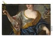 Portrait Of A Lady Three-quarter-length Holding Flowers Carry-all Pouch