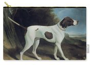 Portrait Of A Liver And White Pointer Carry-all Pouch by George Garrard