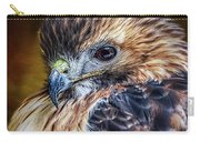 Portrait Of A Red-tailed Hawk Carry-all Pouch