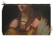 Portrait Of A Richly Dressed Lady Carry-all Pouch