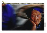 Portrait Of A Senior Lady In Yun Nan, China Carry-all Pouch