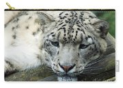 Portrait Of A Snow Leopard Carry-all Pouch